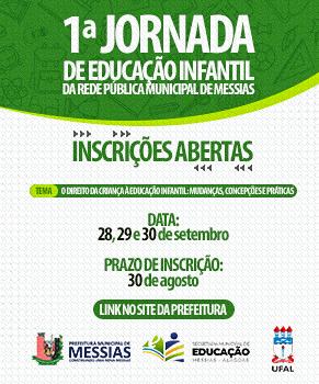 Inscrição 1ª Jornada de Educação Infantil da Rede Pública Municipal